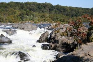 photo of rocks in the Potomac River