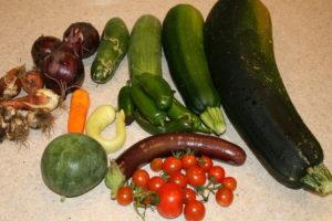 so many vegetables
