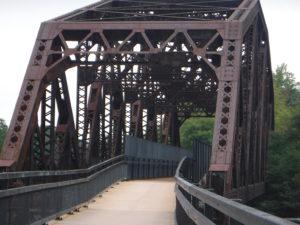 iron bridge, truss style