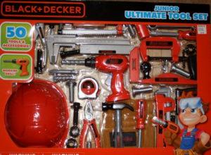 50-piece plastic toy tool set