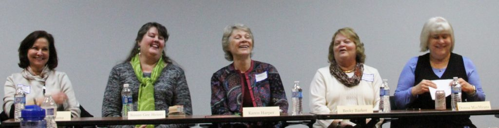 """Panel of 5 of the 6 authors who spoke during the """"Market Day"""" presentation"""