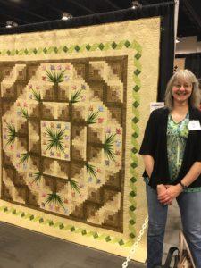 A log-cabin quilt