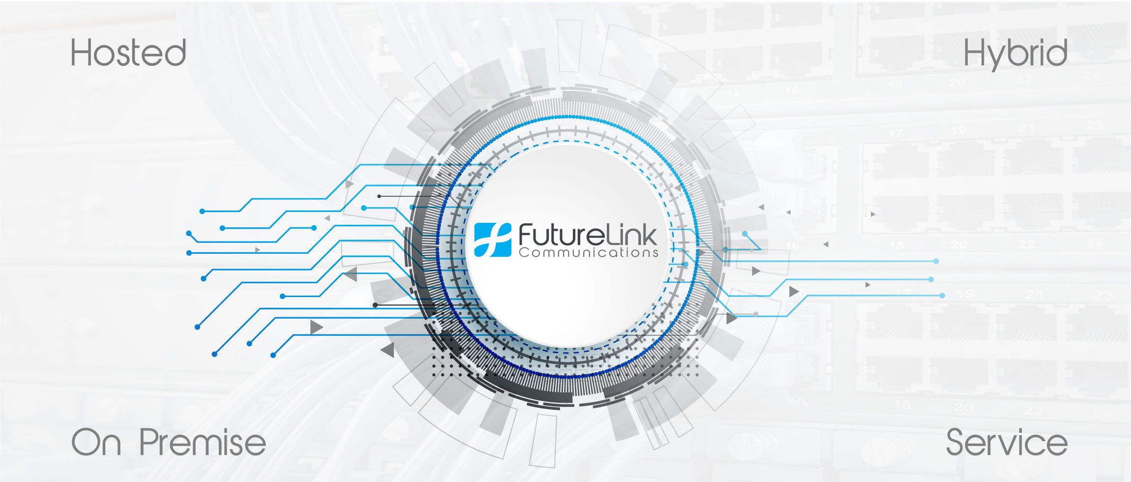 Phone system banner. FutureLink perfroms installations for hosted, on-premise, hybrid deployments. We also have a phone service team to keep your system running smoothly.