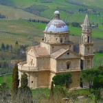 De tempel van San Biagio nabij Montepulciano
