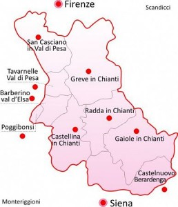 plan Chianti streek