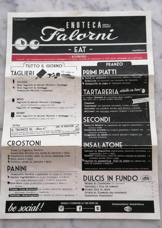 Enoteca Falorni menu