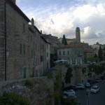 Het middeleeuwse Civitella in Val di Chiana nabij Arezzo