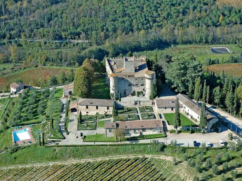 Het wijndomein Castello di Meleto