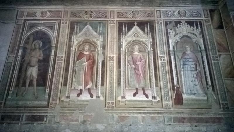 Prachtige 14de eeuwse fresco's