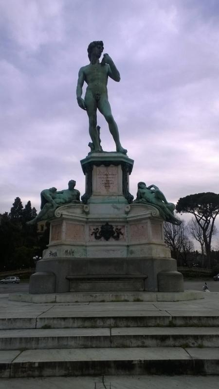 Bronzen reproductie van de David