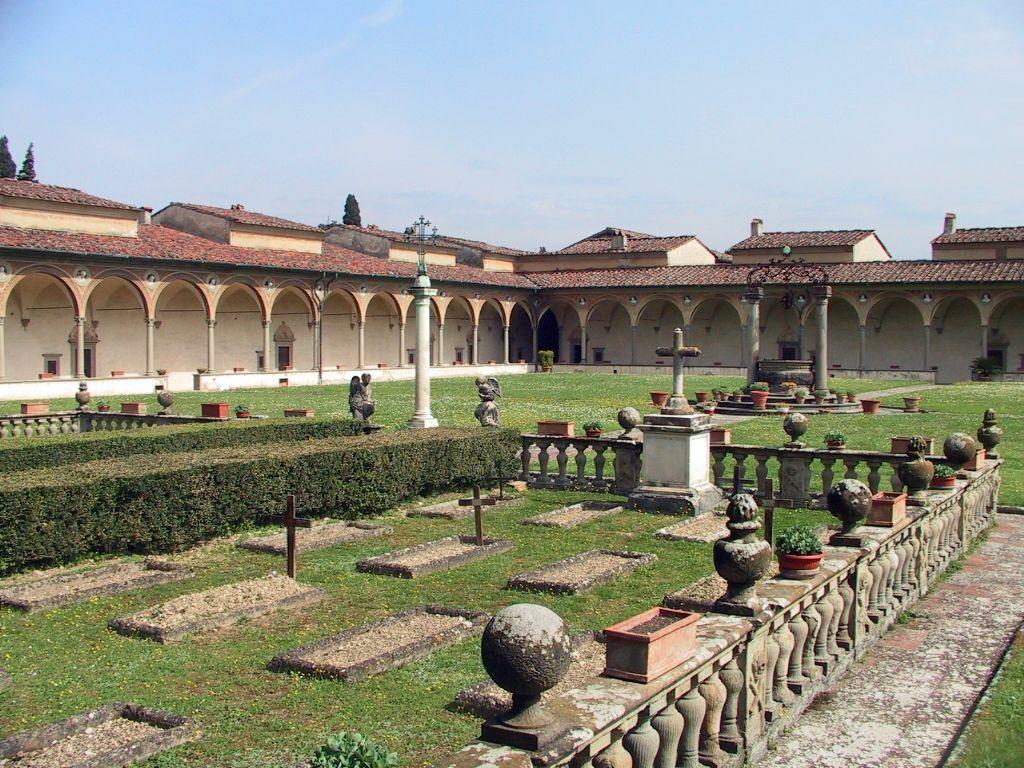 Firenze - Cimitero nel chiostro grande