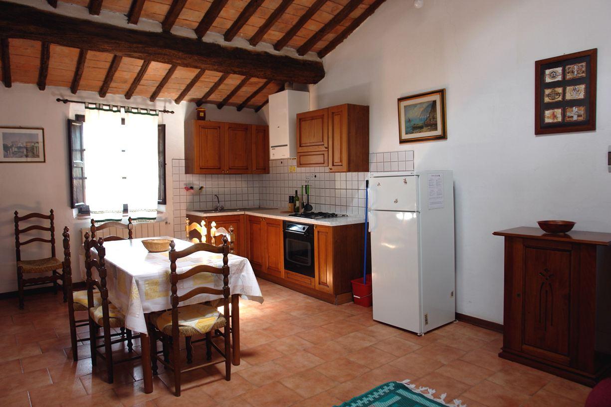 keuken en eetruimte appartement Giaggiolo