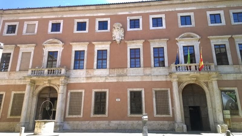 Het 17de eeuwse palazzo Chigi in San Quirico d'Orcia