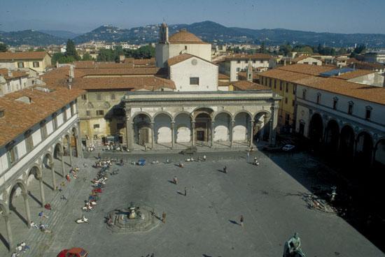 Piazza della santissima annunziata Firenze