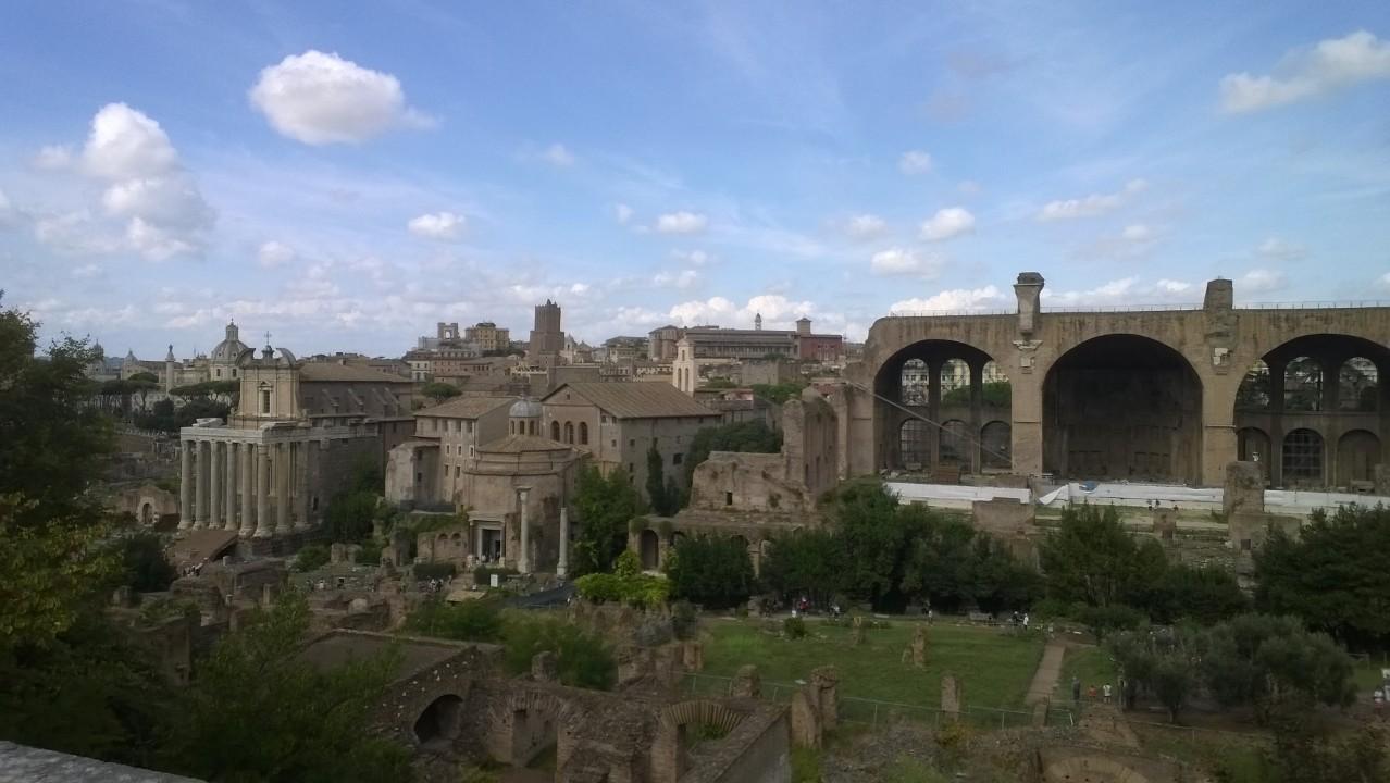 het Palatijn en het forum romanum