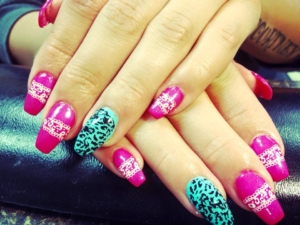 A lacy manicure at The Ritzz Salon in Billings Montana
