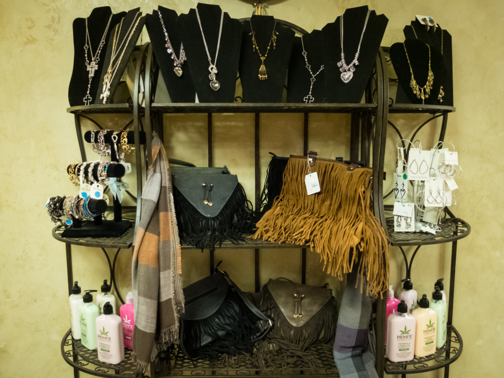 Accessories and jewelry at The Ritzz Salon