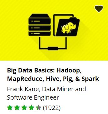 Udemy free Big Data course.