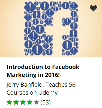 Udemy free Facebook marketing course.