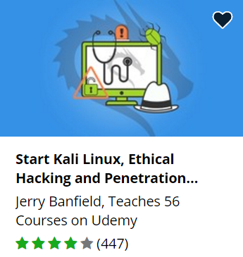 Udemy free hacking course.