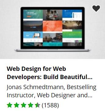 Udemy free web design course.