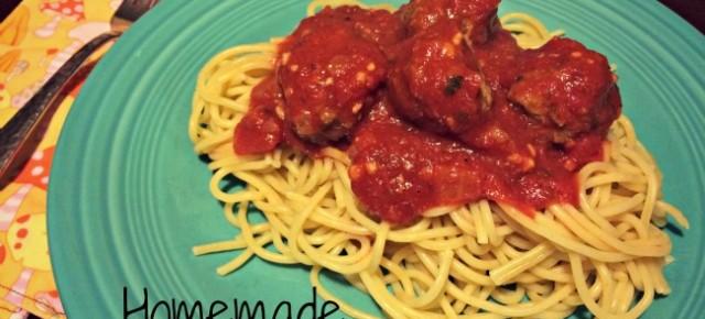 Homemade Spaghetti & Meatballs