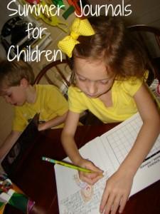 Summer Journals for Children