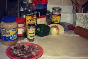 Philly Cheesesteak Pizza Ingredients