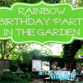 Rainbow Birthday Party in the Garden