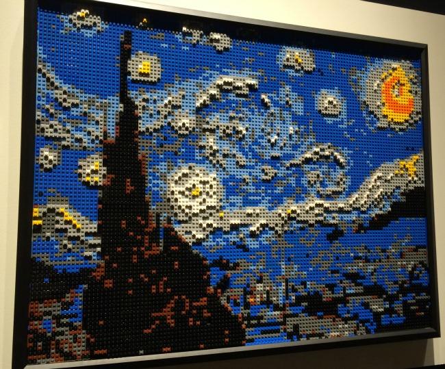 The Art of the Brick Starry Night