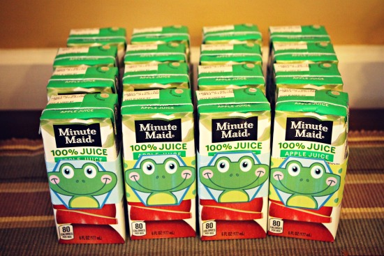 Frog Party Juice Boxes