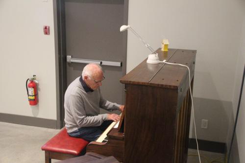 Playing the Piano at Mill Bay Baptist Church