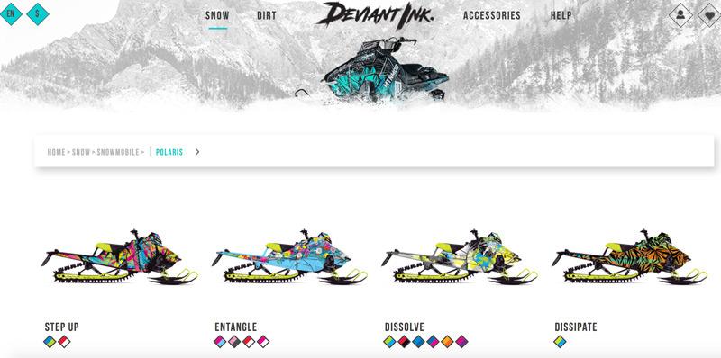 polaris snowmobile wraps