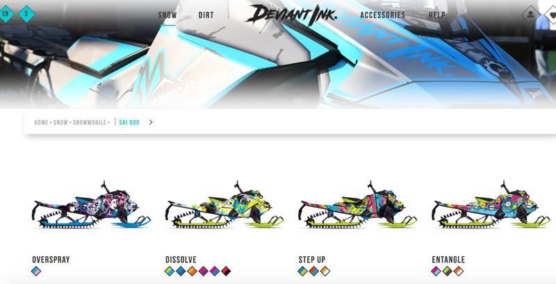 Ski Doo snowmobile wraps