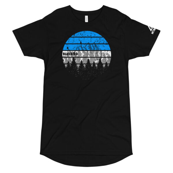 Bluebird winter mountain day shirt
