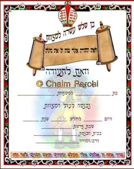 Bar/Bat Mitzvah Invitations