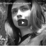 Hillary Clinton, hillary rodham clinton student speech the boomers civil war continues