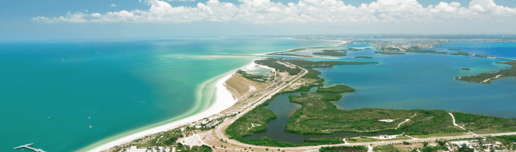 Aerial view of Fort DeSoto the #6 Thing to do in St. Pete