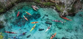 Kayakers in Spring Water