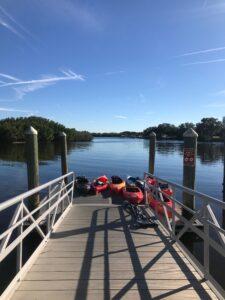 Kayaks on Weedon Island Dock