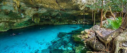 Cenote near Tulum, Mexico