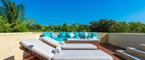 Rooftop Pool at Hacienda Chekul Luxury Villa Rental