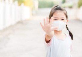 Coronavirus and stop it Chinese girl