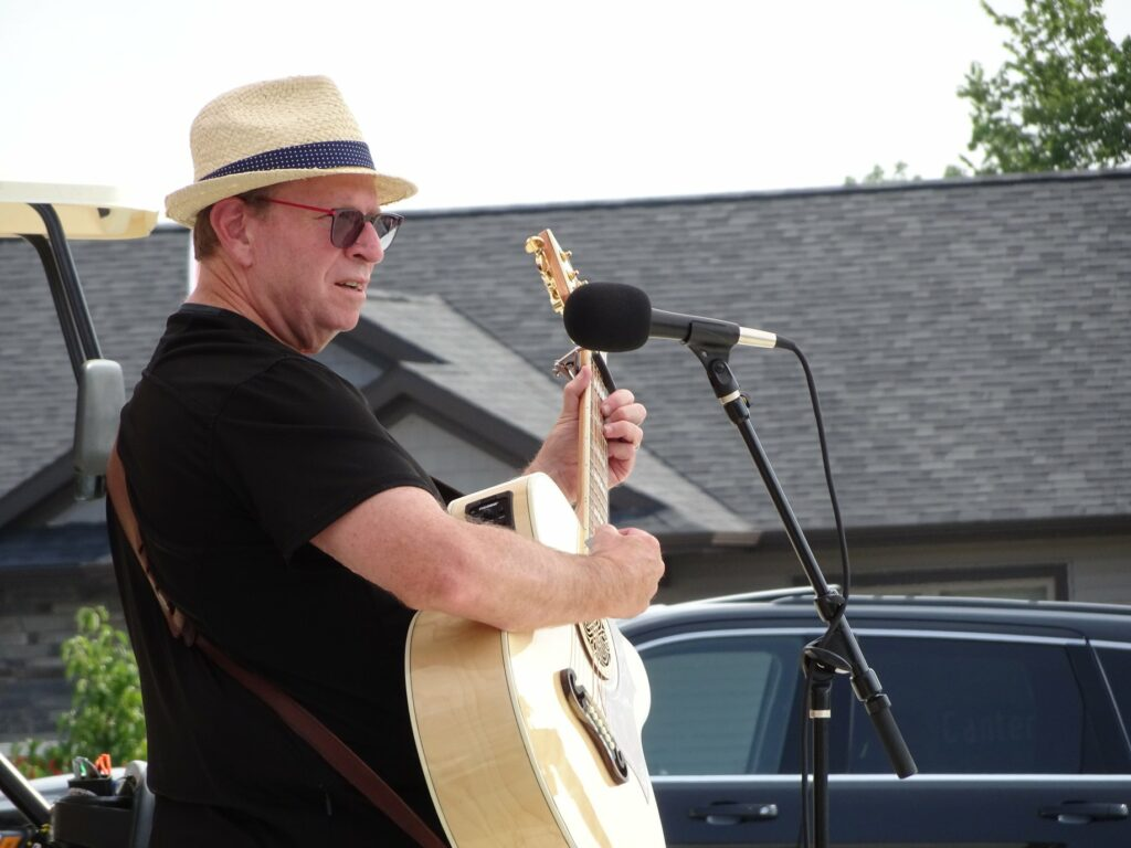 Performing at Porchfest in Iowa