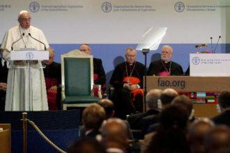 El Papa Francisco en la sede romana de la FAO