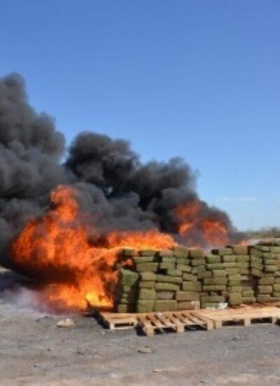 incineran narcoticos en sinaloa