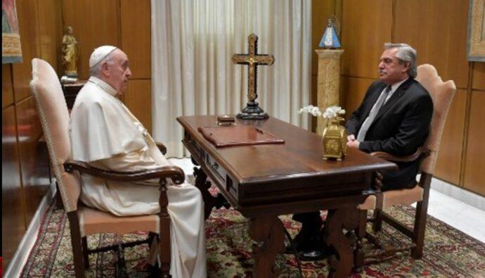 el papa y el presidente de argentina