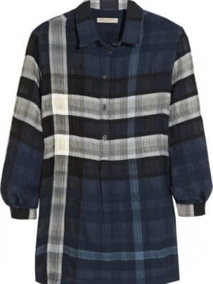 BURBERRY BRIT Checked cheesecloth shirt