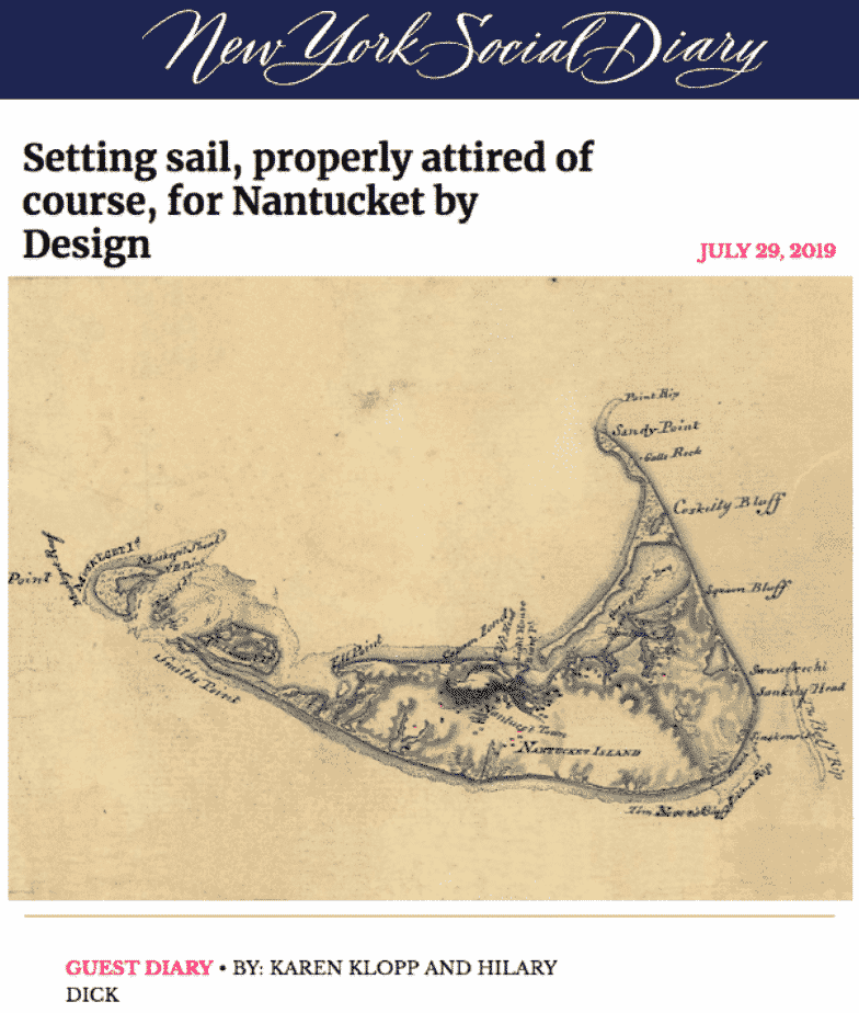 NYSD Setting Sail For Nantucket by Design