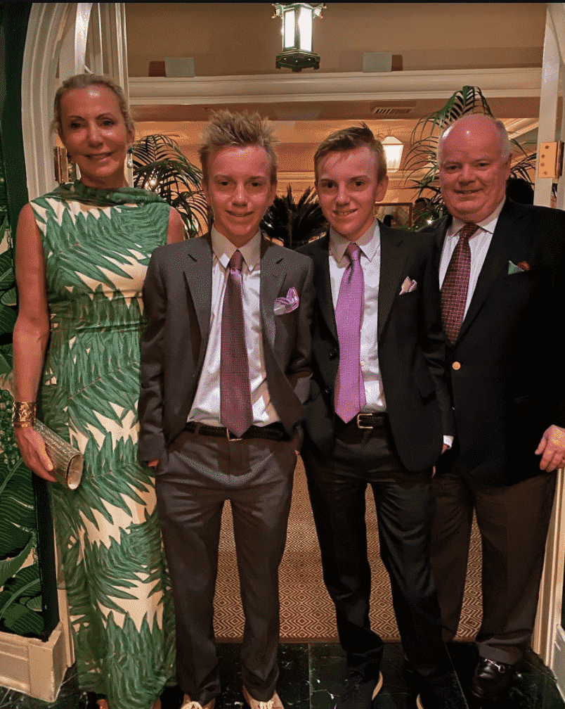 Catherine and Bryan Carey and sons, Ala von Auersperg, Swifty's Palm Beach
